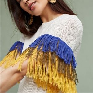 Anthropologie the English factory fringe sweater